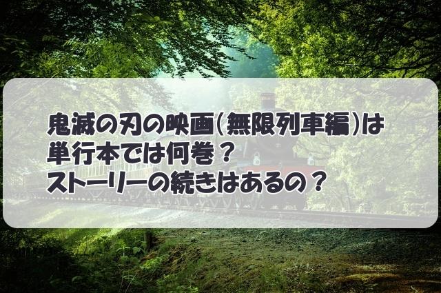 鬼滅の刃の映画(無限列車編)は単行本では何巻?ストーリーの続きはあるの?